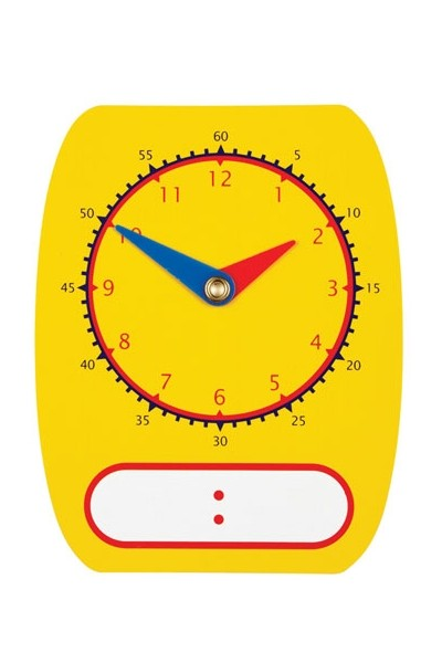Digital/Analogue Clock Dial Write On/Wipe Off
