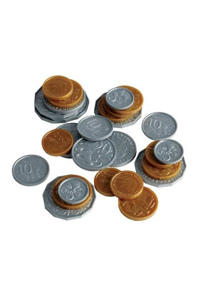 Plastic Play Coins - Jar of 318