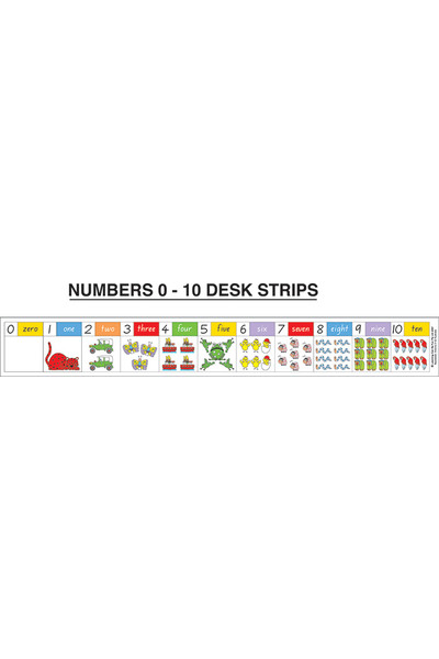 Numbers 0-10 Desk Stickers
