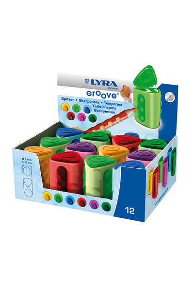 LYRA Groove 2-Hole Sharpener - Box of 12