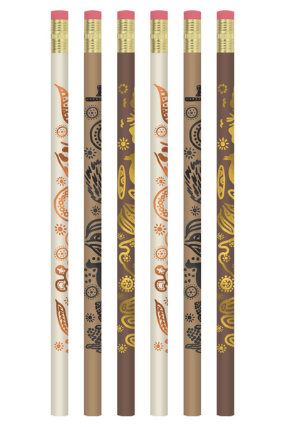 Aboriginal Design Pencils - Pack of 10
