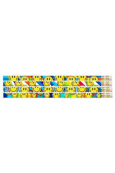 Smiley Face Glitz Pencils - Pack of 10