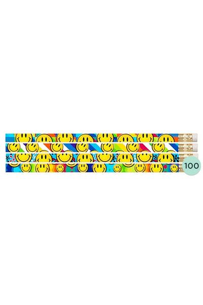 Smiley Face Glitz Pencils - Box of 100