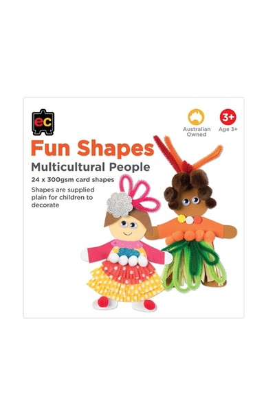 Fun Shapes People: Multicultural Man