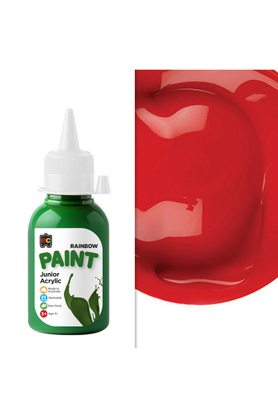 Rainbow Paint Junior Acrylic Paint 125mL - Crimson