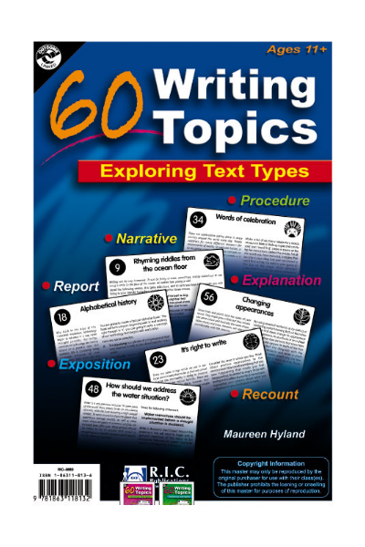 60 Writing Topics - Ages 11-13
