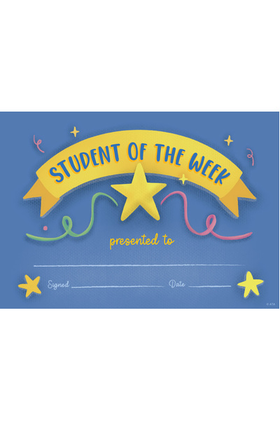 Student of The Week Merit Certificate - Pack of 20 Cards