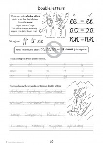 Handwriting Conventions NSW Year 4 - Sample 1