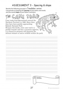 Handwriting Conventions NSW Year 4 - Sample 2