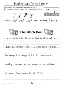 Handwriting Conventions NSW Year 6 - Sample 1