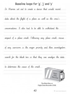 Handwriting Conventions NSW Year 6 - Sample 2