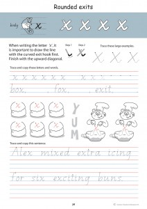 Handwriting Conventions Queensland Year 2 - Sample 2
