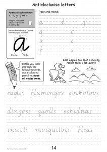 Handwriting Conventions Victoria Year 3 - Sample 1