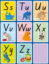 Alphabet Activity Pack - S to Z