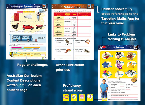 Targeting Maths Australian Curriculum Program - Student Books