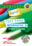 Achieve! English - Text Types - Informative 2