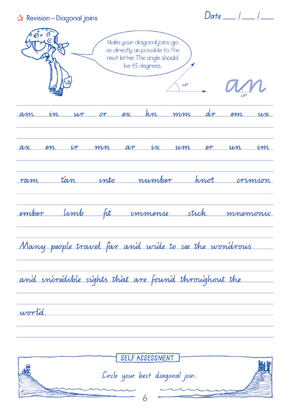 Targeting Handwriting QLD Student Book Year 6 Sample Page6