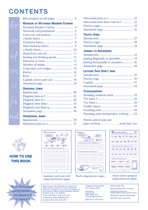 targeting handwriting vic student book year 3 pascal press educational resources and. Black Bedroom Furniture Sets. Home Design Ideas
