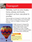 Go Facts - Changing Times - Transport - Sample Page