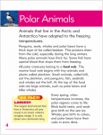 Go Facts - Polar Regions - Polar Animals - Sample Page