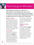 Go Facts Wonders - Technological Wonders - Sample Page
