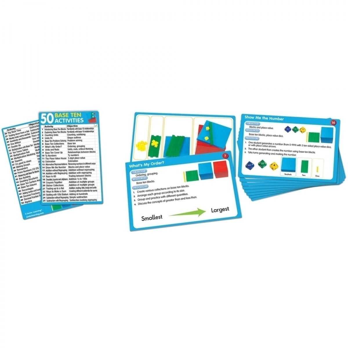 50 Base Ten Activity Cards - Junior Learning Educational Resources