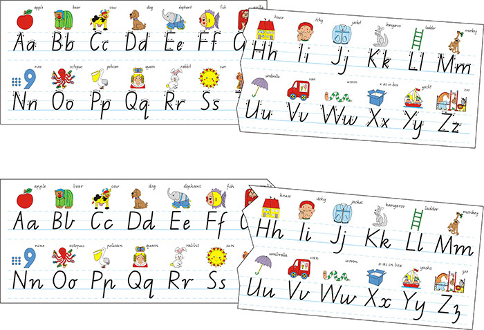 Alphabet Desk Strips - NSW Foundation Font - Learning Can ...