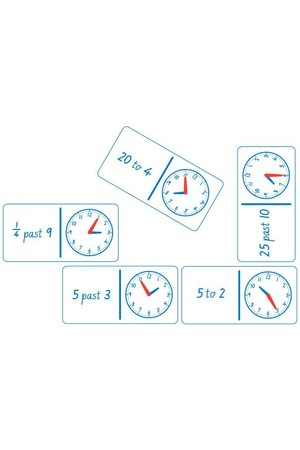 Dominoes - Clock Analogue and Numbers