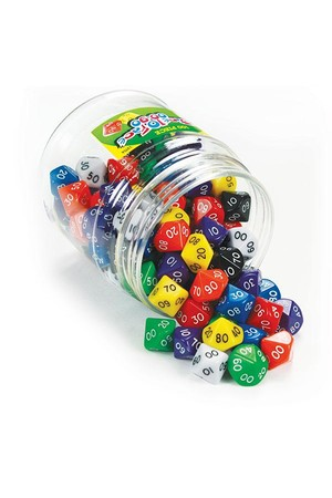 Dice - 10 Face: 00-90 (Jar of 100)