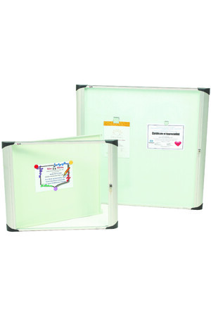 Nobo - Enclosed External Magnetic Notice Board: 1-Door (977 x 1034mm)