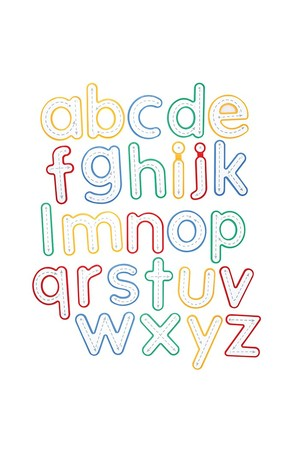 Write and Wipe Letters - Lowercase