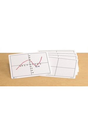 Dry Erase Boards (Double-Sided) - X-Y Axis (Set of 30)