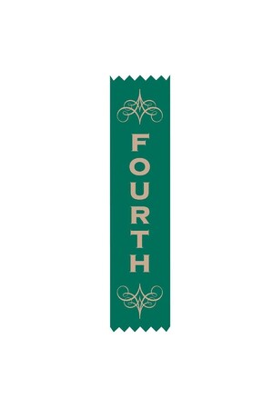 Avery Satin Merit Ribbon - 4th (Pack of 100)