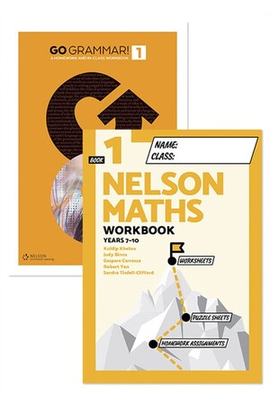 Go Grammar! and Nelson Maths 1 Student Workbook Pack