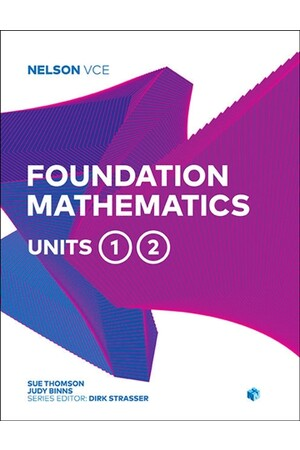 Nelson VCE Foundation Mathematics: Units 1 & 2
