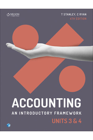 Accounting: An Introductory Framework - Units 3 & 4: Student Book (Print & Digital)