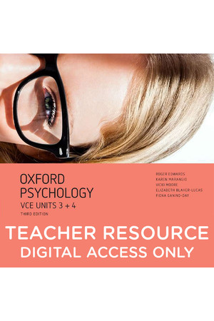 Oxford VCE Psychology - Units 3+4: Teacher obook/assess (Digital Access Only)