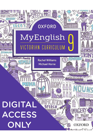 Oxford MyEnglish for VIC Curriculum - Year 9: Student obook/assess + Upskill (Digital Access Only)