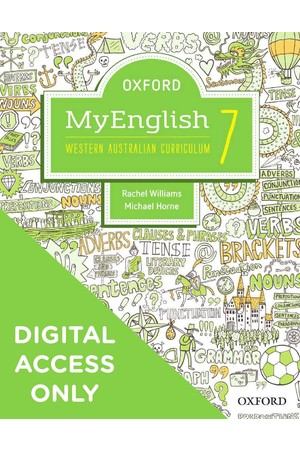 Oxford MyEnglish for WA Curriculum - Year 7: Student obook/assess + Upskill (Digital Access Only)