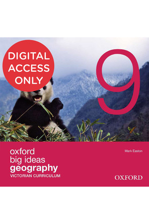 Oxford Big Ideas Geography - VIC Curriculum: Year 9 - Student obook/assess (Digital Access Only)