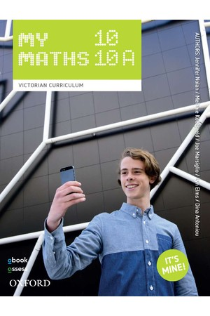 Oxford MyMaths VIC Curriculum - Year 10/10A: Student Book + obook/assess (Print & Digital)