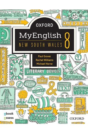 Oxford MyEnglish 8 NSW - Student book + obook assess (Print & Digital)