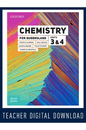 Chemistry for Queensland - Units 3 & 4: Teacher obook/assess (Digital Access Only)