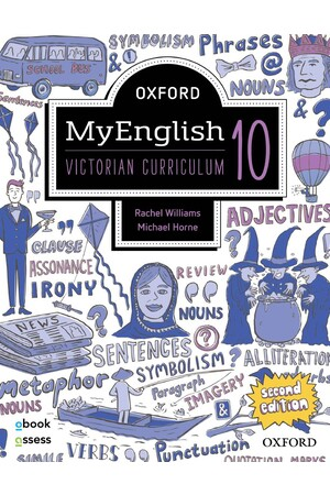 Oxford MyEnglish VIC Curriculum - Year 10 (Seond Edition): Student Book + obook/assess (Print & Digital)
