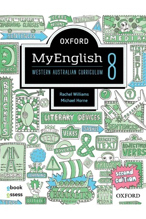 Oxford MyEnglish WA Curriculum - Year 8 (Second Edition): Student Book + obook/assess (Print & Digital)