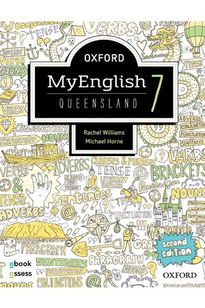 Oxford MyEnglish QLD Curriculum - Year 7: Student Book + obook/assess (Second Edition)
