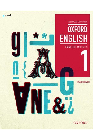 Oxford English 1 - Years 7-8: Student Book + obook/assess (Print & Digital)