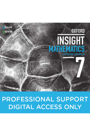 Oxford Insight Mathematics AC for NSW: Year 7 - Professional Support obook/assess (Digital Access Only)