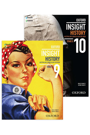 Oxford Insight History AC for NSW - Stage 5 Value Pack: Years 9&10 Student Book + obook/assess (Print & Digital)