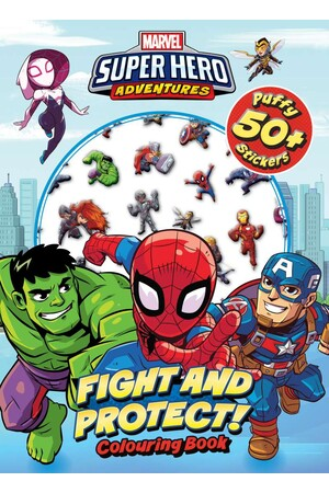 Marvel Superhero Adventures Fight & Protect Puffy Sticker